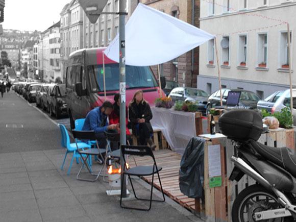 erstes Parklet Stuttgart